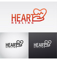heart healing logo vector image vector image