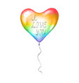 heart lgbt sign symbol love romantic icon rainbow vector image