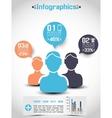 INFOGRAPHICS DEMOGRAPHICS PEOPLE RANKING vector image