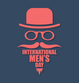international men day or father day image in vector image vector image