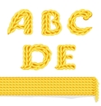knitted alphabet A E vector image vector image