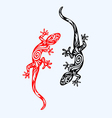 Lizard ornate vector image vector image