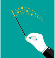 magical stick with sparkle vector image vector image