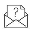 mail with question mark vector image vector image