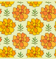 marigold seamless pattern floral background for vector image