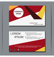 Modern business visiting card vector image vector image