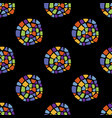 mosaic pattern cirlce on black vector image vector image