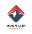 mountain logo design your company vector image vector image