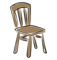 old wooden chair on white background vector image vector image