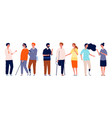 people together different person characters vector image vector image