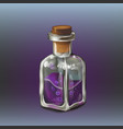 purple poison bottle vector image