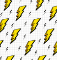 Retro 80s lightning bolts pattern vector image