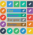 Rocket icon sign Set of twenty colored flat round vector image vector image