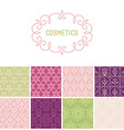 set floral border and seamless patterns vector image vector image