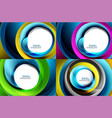 set of spiral swirl line backgrounds vector image vector image