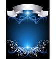 silver ornament vector image vector image