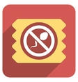 Spermicide Condom Flat Rounded Square Icon with vector image