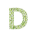 Spring green leaves eco letter D vector image vector image