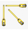 tape measure tool set vector image