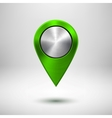 Technology Map Pointer with Green Metal Texture vector image vector image