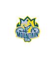 the emblem of the mountain bike sport bike logo vector image