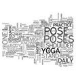 the most important yoga pose when you are on the vector image vector image