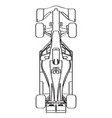 top view of a racing car vector image vector image