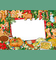 traditional christmas greeting template with vector image vector image