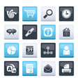 web site internet and computer icons vector image