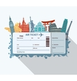 World landmarks ticket vector image
