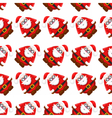 seamless christmass pattern santa claus vector image