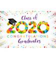 2020 yellow colouerd bubbles graduates vector image vector image