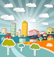 Abstract City in Retro Style vector image vector image