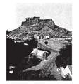 acropolis site original settlement vector image vector image