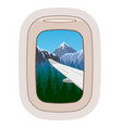 airplane window traveling plane vector image vector image