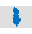 albania map - high detailed blue map with vector image vector image