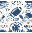 american football seamless pattern background vector image vector image