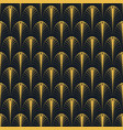 art deco seamless pattern gold on black vector image