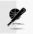baseball basket ball game fun glyph icon on vector image vector image