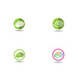 beauty lotus flowers design logo template icons vector image vector image