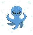 Blue Octopus Drawing vector image vector image