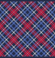 blue pixel texture plaid seamless pattern vector image