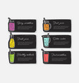 bundle banner templates or cards with smoothies vector image vector image