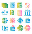 business and finance color icons set vector image
