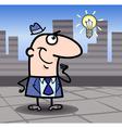 businessman with idea cartoon vector image vector image