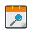 calendar search icon flat style vector image