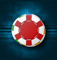 casino chips top view vector image