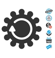 Cog Rotation Icon With Free Bonus vector image vector image