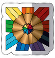 color abstract pencils bacground icon vector image