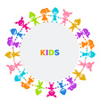 Colorful kids friends image vector image vector image